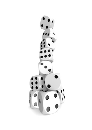 Dice tower Stock Photo - 18371975