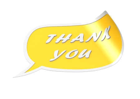 Thank you english Stock Photo - 18387710