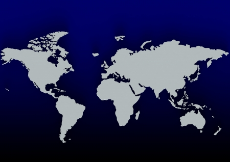 Blue world map photo