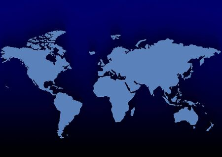 Blue world map Stock Photo - 18420463