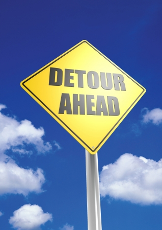 Detour ahead Stock Photo - 18463317