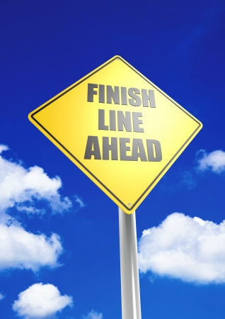 Finish line ahead photo