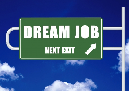 day dream: Next exit dream job Stock Photo