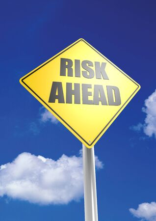 risk ahead: Risk ahead Stock Photo