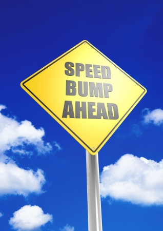 Speed bump ahead photo