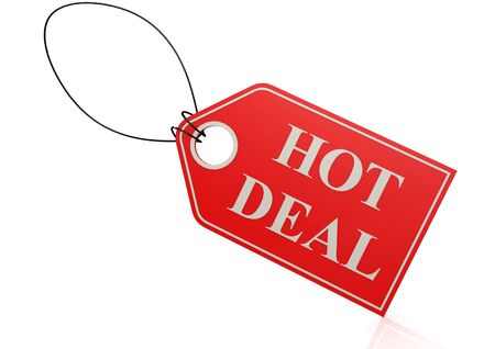 Hot deal label  Stock Photo - 18823391