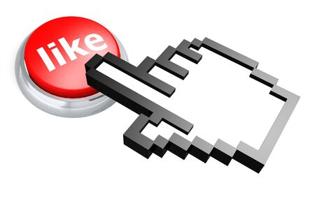 Like button with hand cursor photo