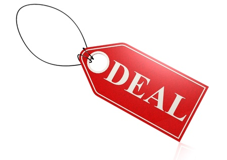 ollection: Deal label Stock Photo