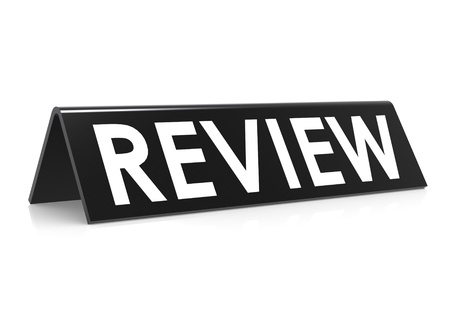 Review tag black Stock Photo - 18881979