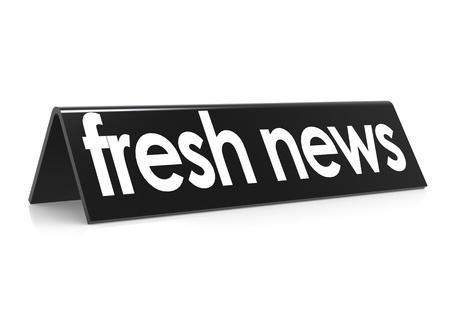 fresh news: Fresh news in black