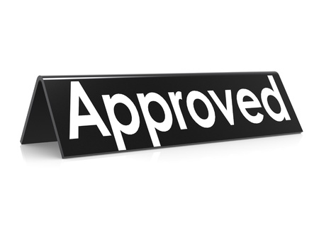 Approved in black Stock Photo - 18942648