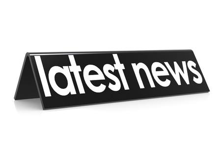 latest news in black Stock Photo - 18942684