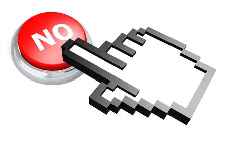 No button with hand cursor Stock Photo - 18942694