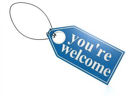 you are welcome: You re welcome label
