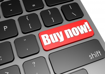 Buy now with black keyboard Stock Photo - 19046754