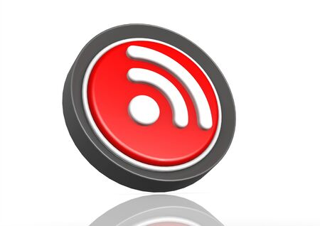 RSS feed round icon Stock Photo - 19046770