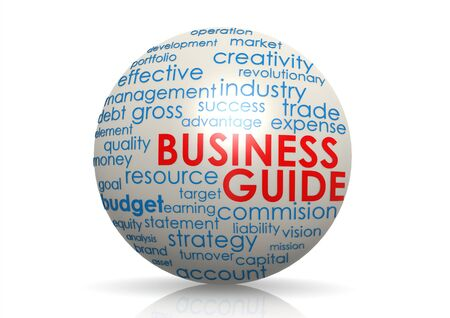 Business guide sphere photo