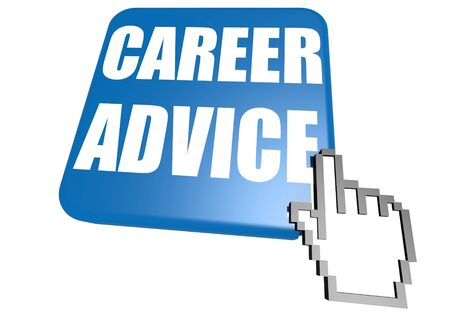 Career advice button with cursor photo