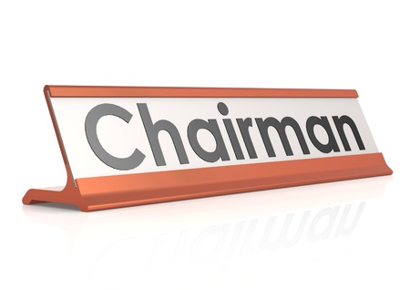 Chairman table tag photo