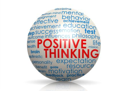 Positive thinking sphere photo