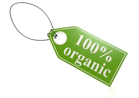 environmentalist tag: 100 percent organic label