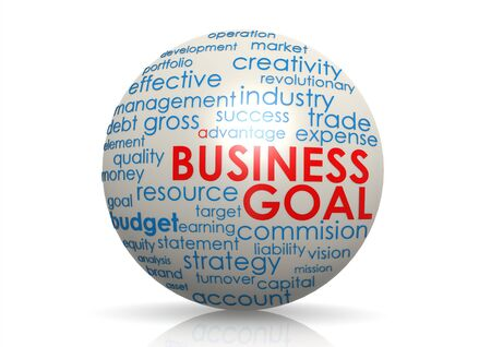 Business goal sphere Stock Photo - 19137202