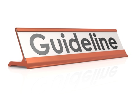 Guideline table tag photo