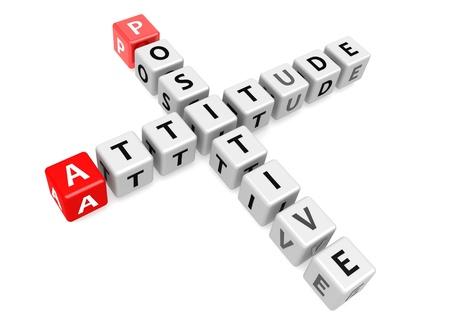 jargon: Postitive attitude Stock Photo