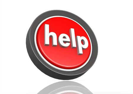 Help round icon  Stock Photo - 19142612