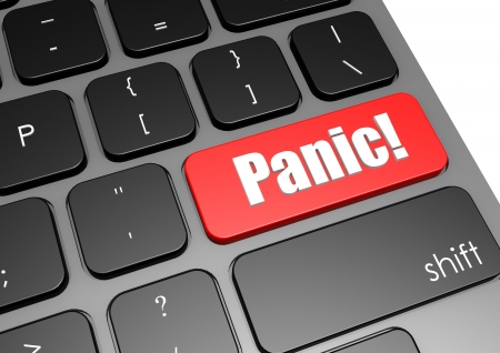 Panic with black keyboard Stock Photo - 19142705