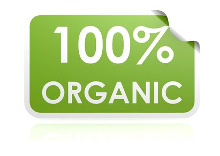 100 percent organic sticker photo