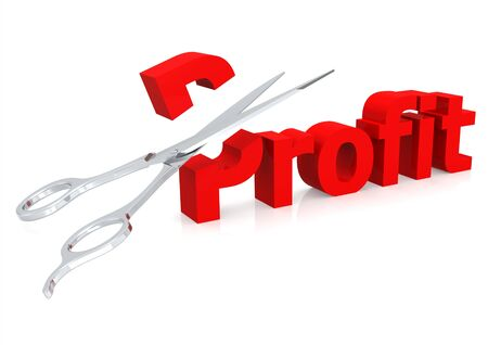 Scissor and profit photo