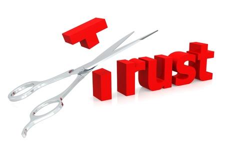 Scissor and trust Stock Photo - 19180319