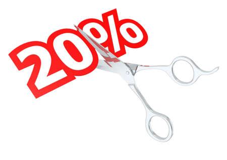sacrificed: Cut 20 percent Stock Photo
