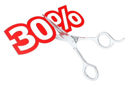 sacrificed: Cut 30 percent Stock Photo