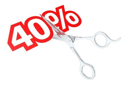 40: Cut 40 percent