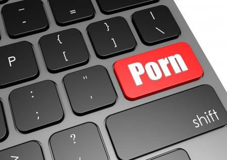 Porno con tastiera nera