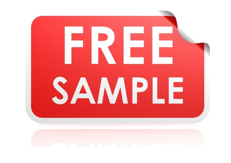 Free sample sticker photo