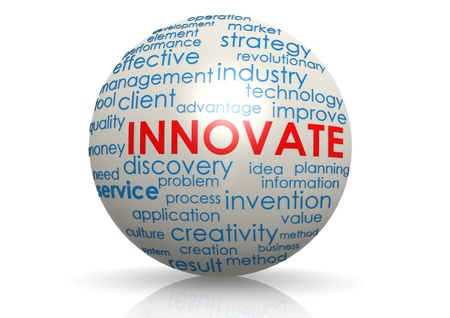 invent: Innovate sphere Stock Photo