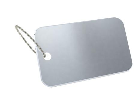 dogtag: Metal plate tag Stock Photo