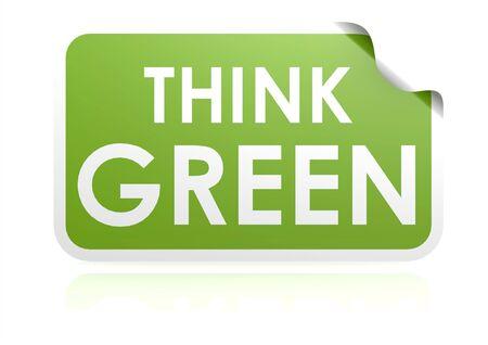Think green sticker photo