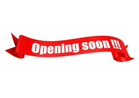Opening soon ribbon