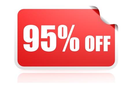 95: Adesivo 95 per cento di sconto