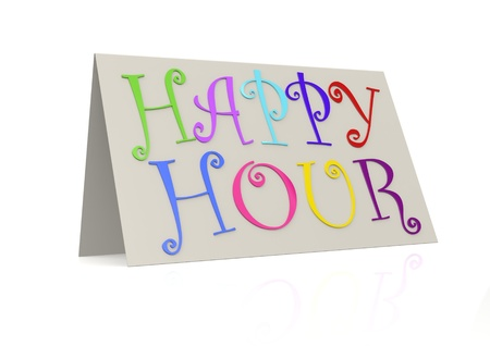 Happy hour with folded paper photo