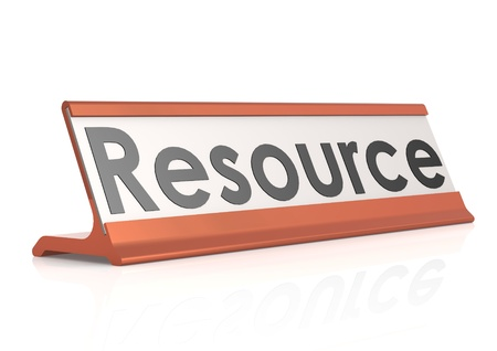 Resource table tag Stock Photo - 19263088