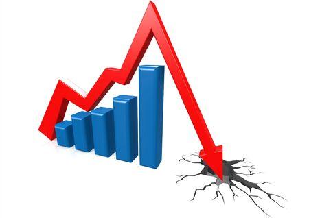 fiasco: Ground breaking graph Stock Photo