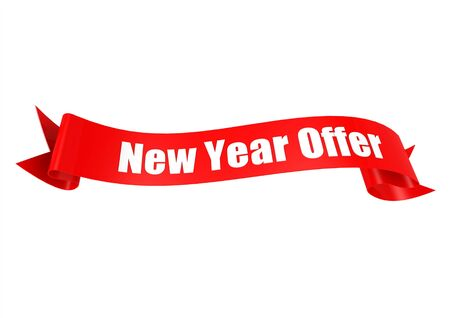 New year offer ribbon photo
