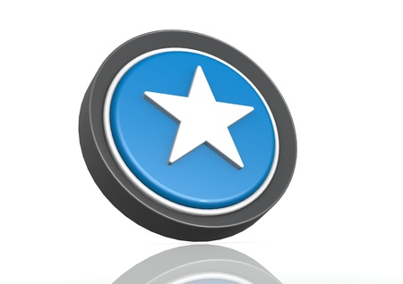 Star round icon in blue photo