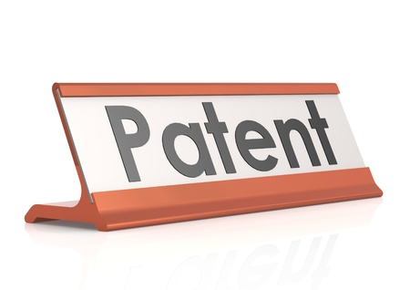 Patent table tag Stock Photo - 19328152