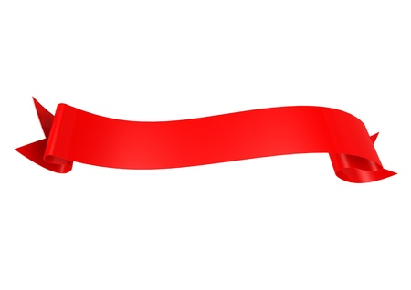 Red ribbon Reklamní fotografie